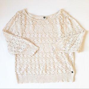 Roxy knit cream pullover sweater